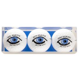 Tres bolas - motivo Keep Your Eye