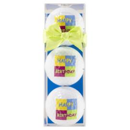 Tres bolas motivo Happy...